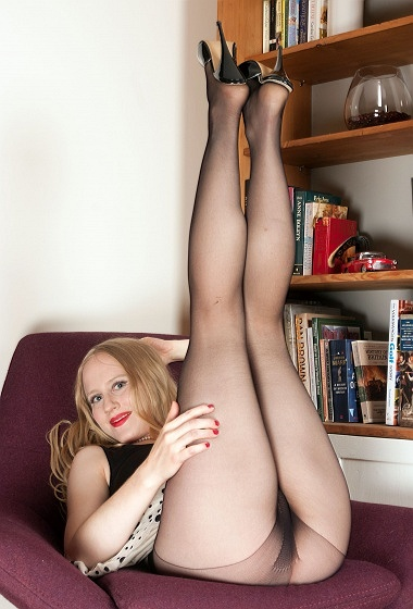 Lucy Lume - Party dress and pantyhose!