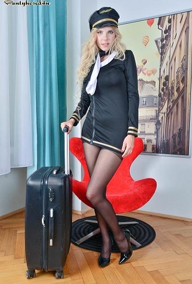 Florane Russell - Bumpy landing!